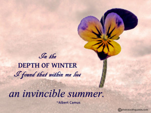 Inspirational Quote - Albert Camus