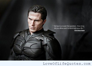 Christian Bale quote on pain
