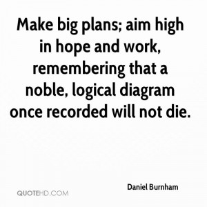 Daniel Burnham Architecture Quotes