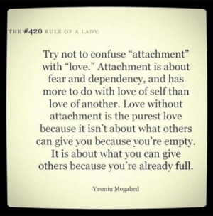 ... dependency and has more to do with love of self than love of another p