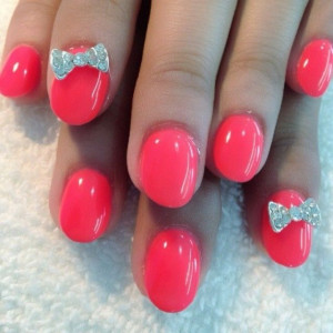 Pretty Nail Designs with Bows