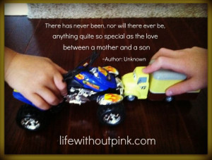 mother and son quote - Moms of boys
