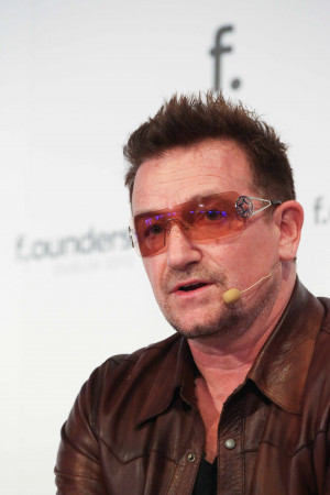 Bono at the F.ounders Conference in Dublin on Friday (Photo by Conor ...