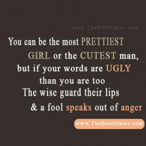 why i try and keep my mouth shut drama anger and jealousy is ugly ...