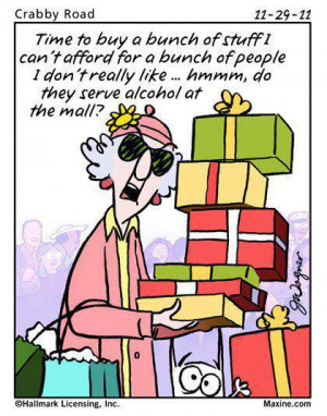 Maxine's view on Christmas funny facebook joke
