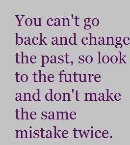 Don't make the same mistake twice!!