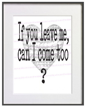 Song Quote Art Print Funny Sad Poster Love Song Quote Black and White ...