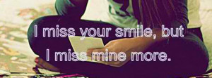 Click to view miss your smile but facebook cover