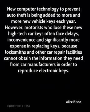 Alice Bisno - New computer technology to prevent auto theft is being ...