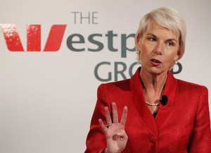 Lady in red . . . Gail Kelly yesterday vowed no rises about the ...