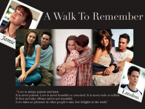 Walk to Remember Movie adapted book by Nicholas Sparks