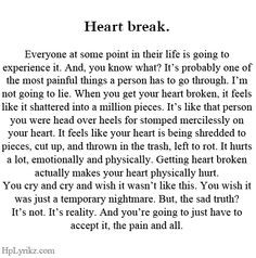 ... what to say to other heartbroken girls now...I'm so much smarter. More