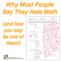 Hate Math Many people say they hate math