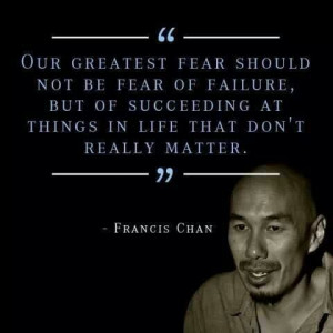 Francis Chan - the more I read about this guy, the more I want to read ...
