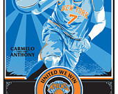 Carmelo Anthony - New York Knicks Basketball Screen Print