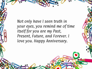 ... are my past present future and forever i love you anniversary quote