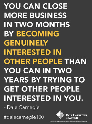 ... two years by trying to get people interested in you.
