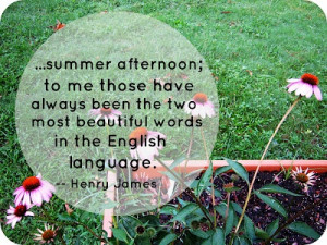 summer afternoon quote