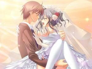 Anime couples wedding couple
