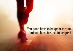 ... , but you have to start to be great. Download Athlete running photo