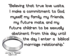 True Love Waits - Abstinence outside of marriage