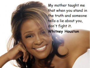 Whitney Houston คำคม ปรัชญา quote