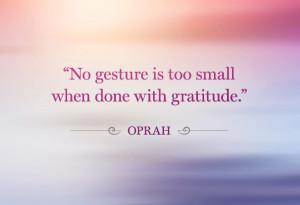 Oprah gratitude quote