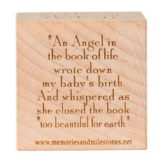Personalized Infant Memorial Gift Engraved Custom Wooden by ekm43, $25 ...