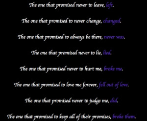 ... quotes | ... promises people leaving love broken hurt quotes quotes