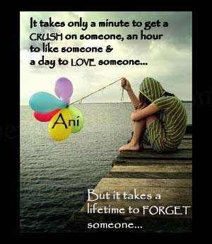 It takes a lifetime to forget someone