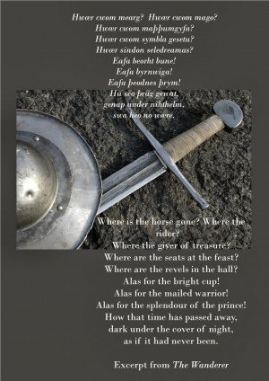 Beowulf Quotes Famous quotes, one from the wanderer and the other from ...