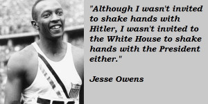 Jesse Owens, Olympic Gold Medalist, 1936