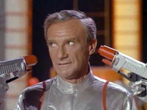 ... guns at his head in Lost In Space 1965 movieloversreviews.blogspot.com