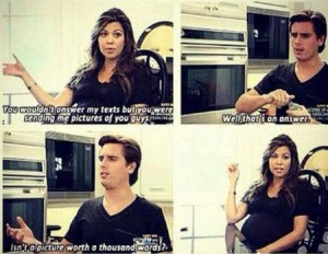 scott disick - funny quotes - rude to kourtney - handbagcom
