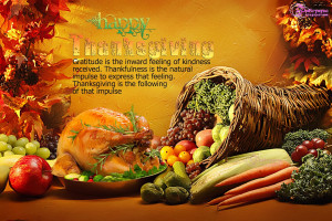 Thanksgiving Day Food Picture Wishes Card Free With Greetings Quote ...