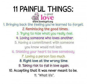 11 Painful Things: