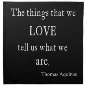 Vintage Aquinas Love Inspirational Quote / Quotes Printed Napkin