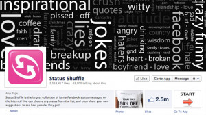 Status Shuffle, a popular Facebook app, can make you look awesome by ...
