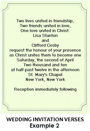 Christian Wedding Invitation Wording And Verse Examples