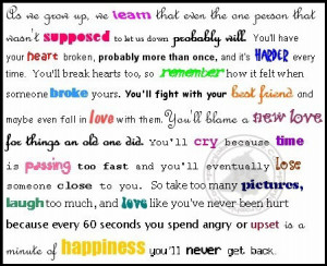 Advice Quote: Love Like You've Never Been Hurt…