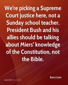 Barry Lynn - We're picking a Supreme Court justice here, not a Sunday ...