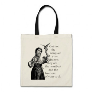INSPIRATION QUOTES FOR WOMEN CANVAS BAGS