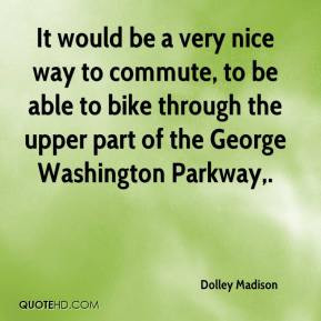 ... able to bike through the upper part of the George Washington Parkway