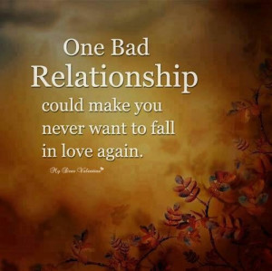 one bad relationship