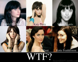 actress, coincidence, emily blunt, katie featherston, katy perry, mia ...