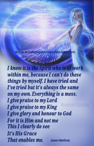 It is God's grace that enables me - Wisdom Quotes and Stories