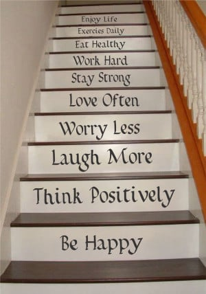 Life Quotes Stair Riser Decals, Stair Stickers, Wall Decals