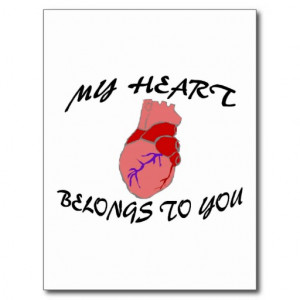 My Heart Belongs To You Postcards
