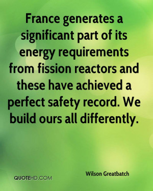 generates a significant part of its energy requirements from fission ...