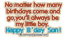 Birthday Quotes for My Son | Happy Birthday Son Facebook Photo Graphic ...